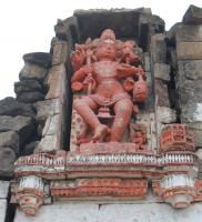 one of two statues on backside of Bhim Arjuna