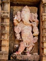Ganesh sculpture at Chand-Suraj Gate wall