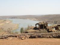watch tower's view of the Narmada - taken 2003