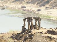 remains of temple at location of human sacrifices to Kal Bhairao