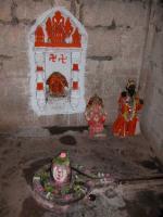 linga inside shrine