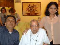 Dr. Nagar with his son Sid and wife Asha